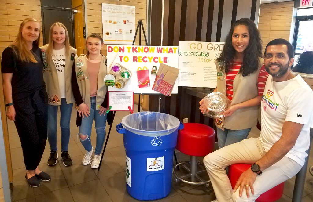 Girl Scouts Recycling - Group - 19891 - Apr 3 2019
