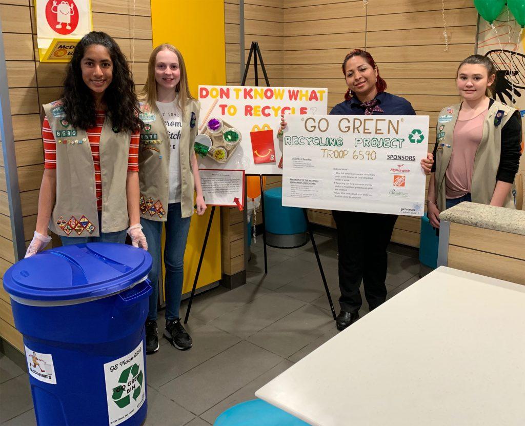 Girl Scouts Recycling - Group wMariela - 19891 - Apr 3 2019