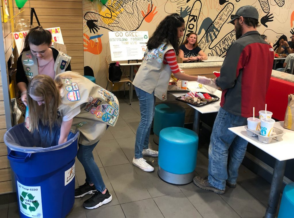 Girl Scouts Recycling - Helping Customers - 19891 - Apr 3 2019