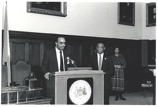 Liberty Bell Award - Mr Welburn & Joseph Coleman - Pres Philly City Council