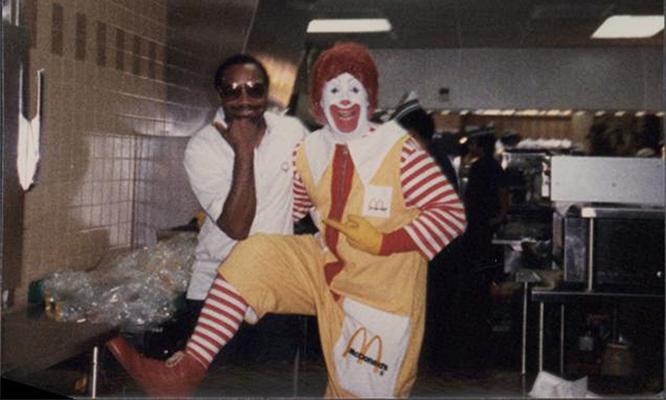 Mr Welburn and Ronald