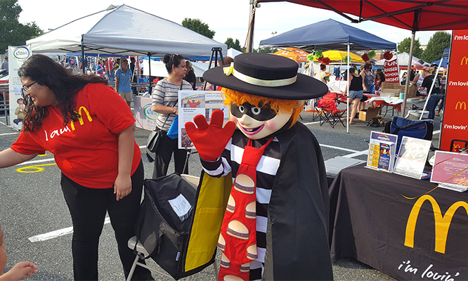 National Night Out - Stafford - HB Waving - Aug 1 2017