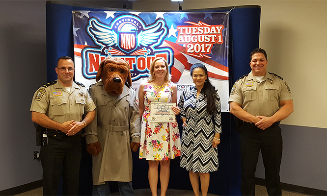 National Night Out - Stafford - Pic wMcGruff n Sheriff - Aug 1 2017